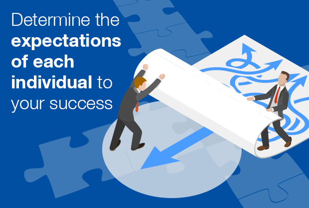 Determine the expectations of each individual to your success