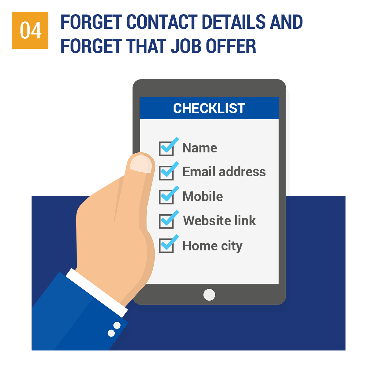 Forget contact details and forget that job offer