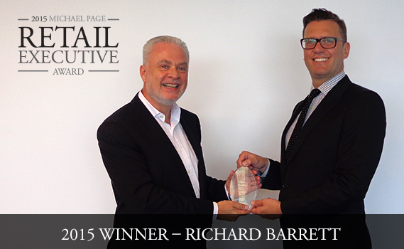 Retail Executive Award winner